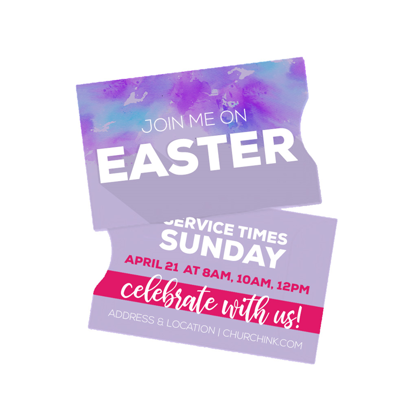 Easter Gift Card Sleeve Invite Cards