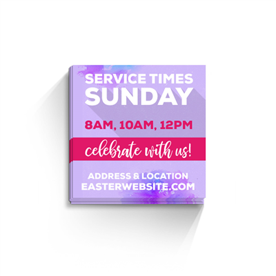 Easter Square Invite Cards