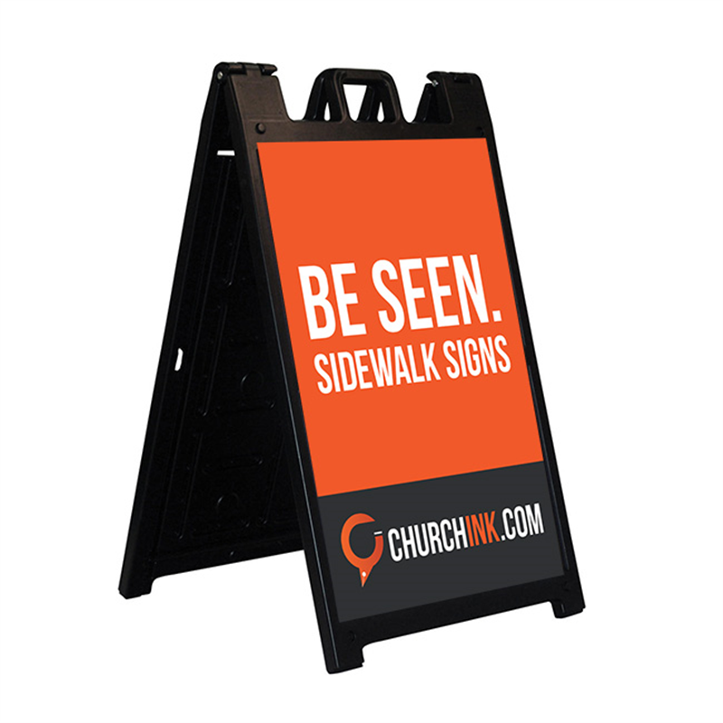 church sidewalk signs with full color signs