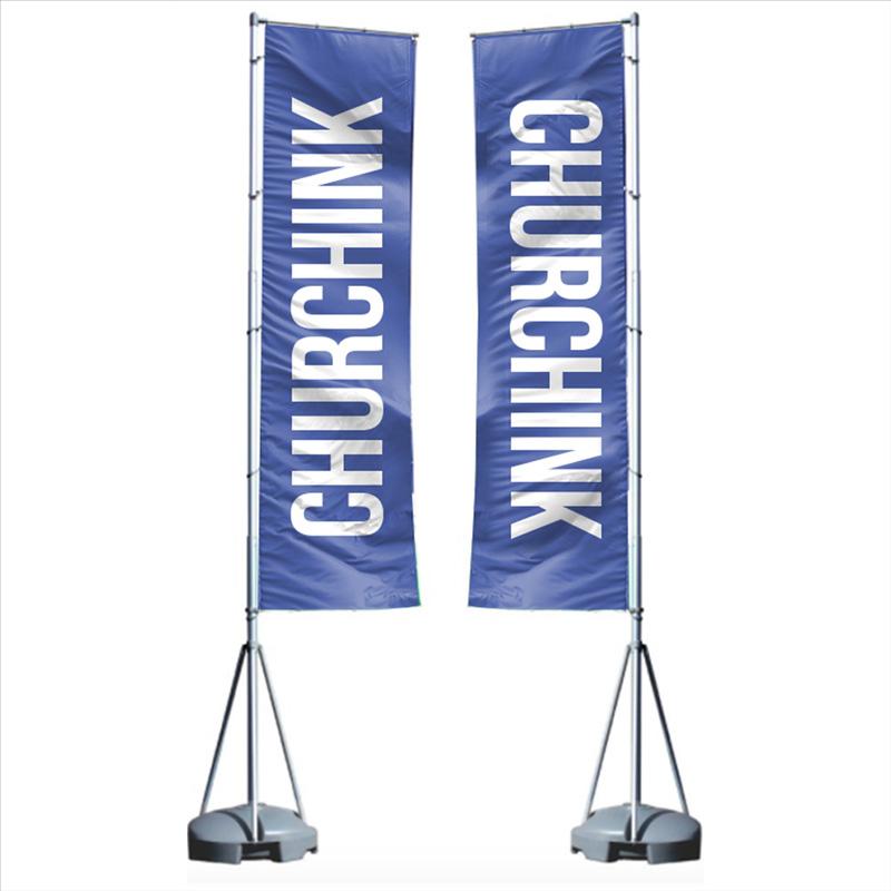 17 foot mega flag double sided banner