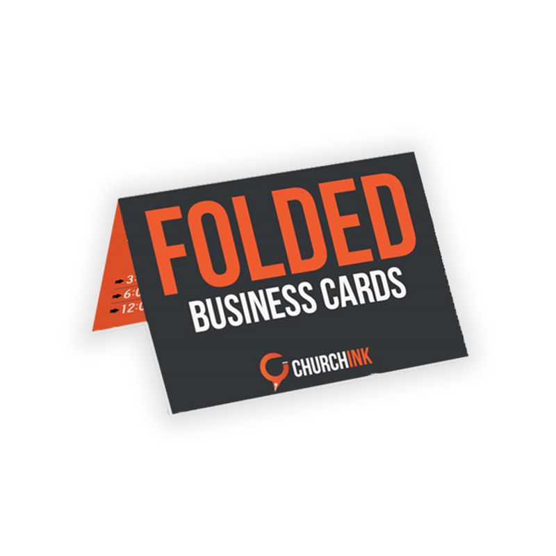 Fold Over Business Card Template Churchink Com Church Banners Signs Promotional And
