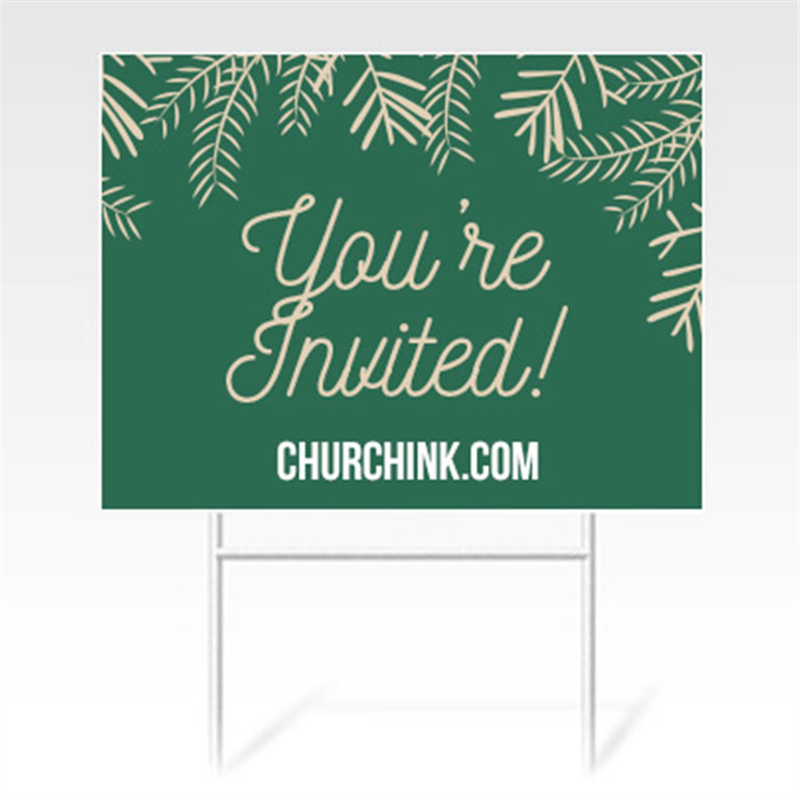 Yard sign lawn sign printing plastic signs for Large outdoor christmas signs