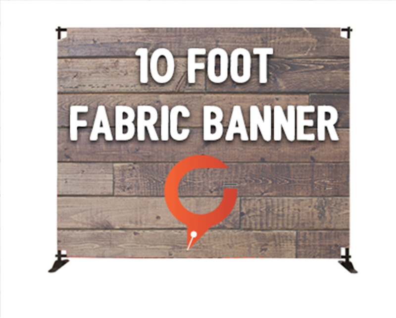 Church Banners 10 Foot Fabric Banner Display Stand