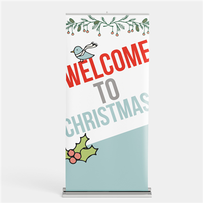 Christmas Retractable Banner Stands (Economy)