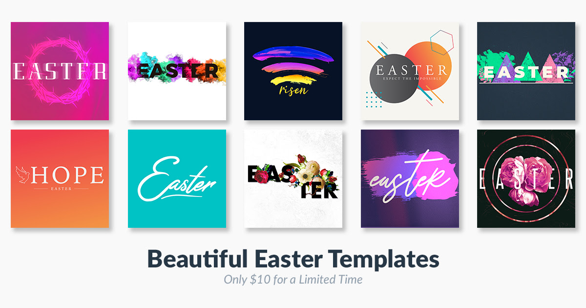 Easter design templates